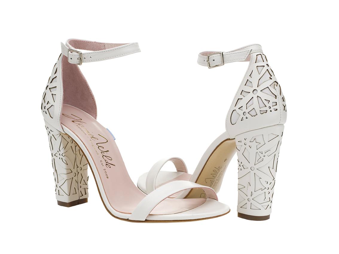 Harriet Wilde Laser Block Heel Wedding Shoe