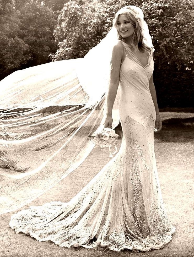 Kate Moss Bias Cut Wedding Dress - Cicily Bridal