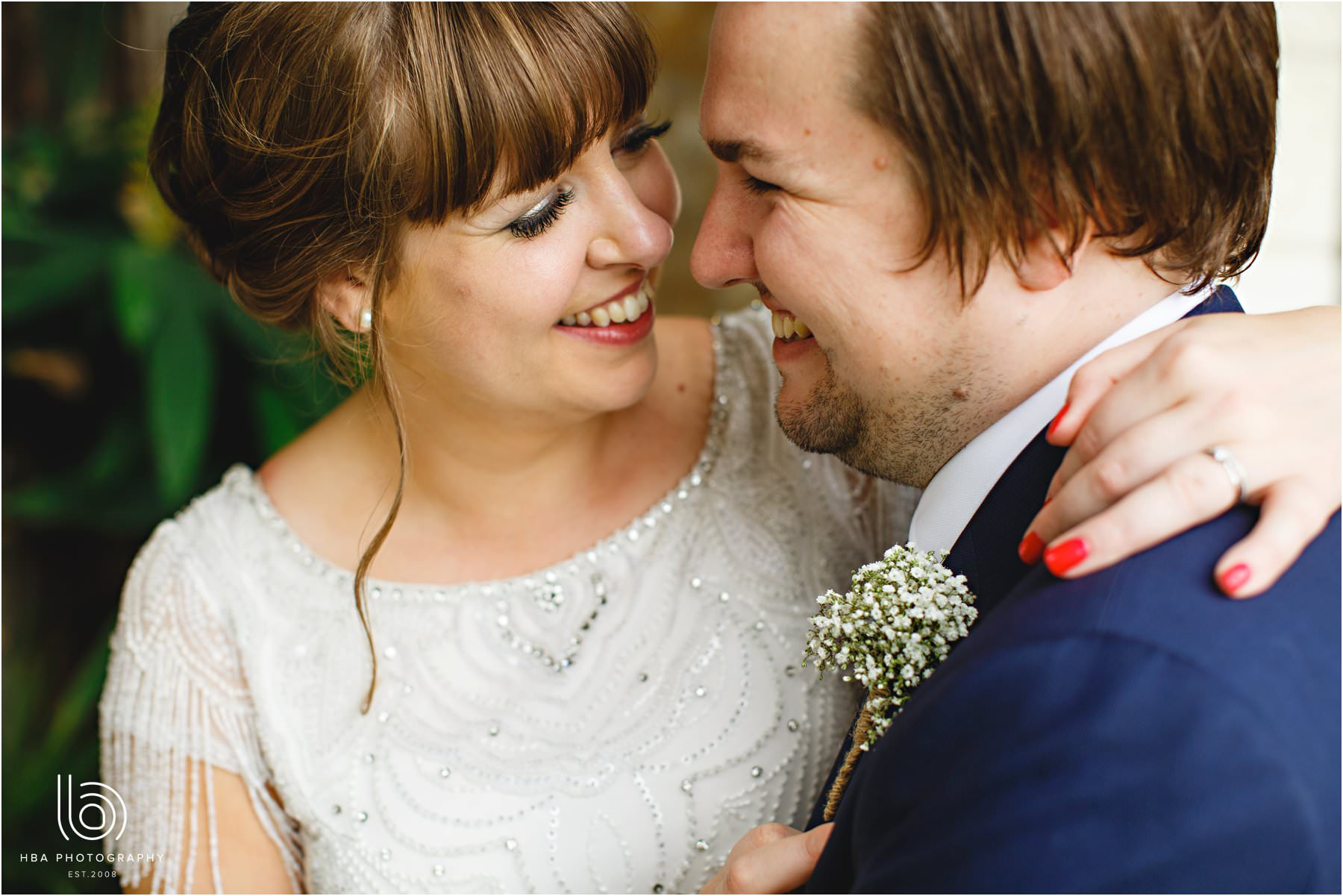 Real Bride Amy wears Fleur by Eliza Jane Howell - Bride & Groom close up