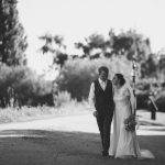 Real Bride Olivia in Jesus Peiro Dress 6002 - Bride & Groom Black.White Image