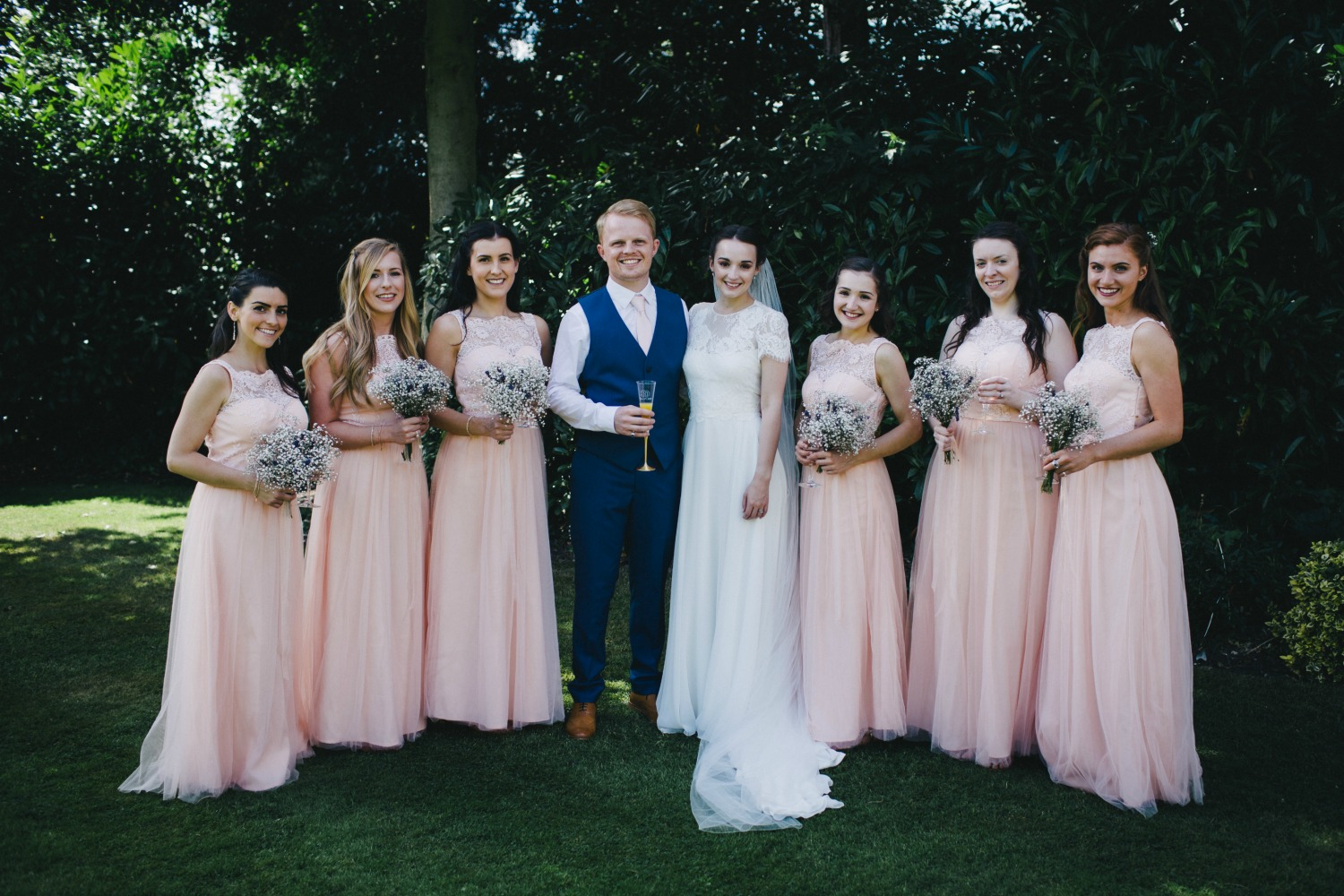Bride, Groom & Bridesmaids