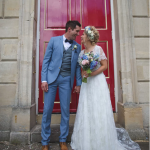 Real Bride Rebecca wears Charlie Brear 1950.7 - Bride & Groom - Cicily Bridal Leicester