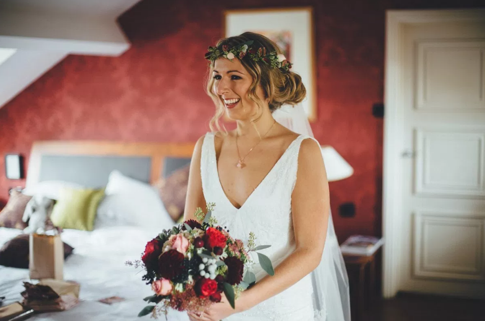 Real Bride Lucy wears Charlie Brear 1920.2 - The Bride - Cicily Bridal Leicestershire