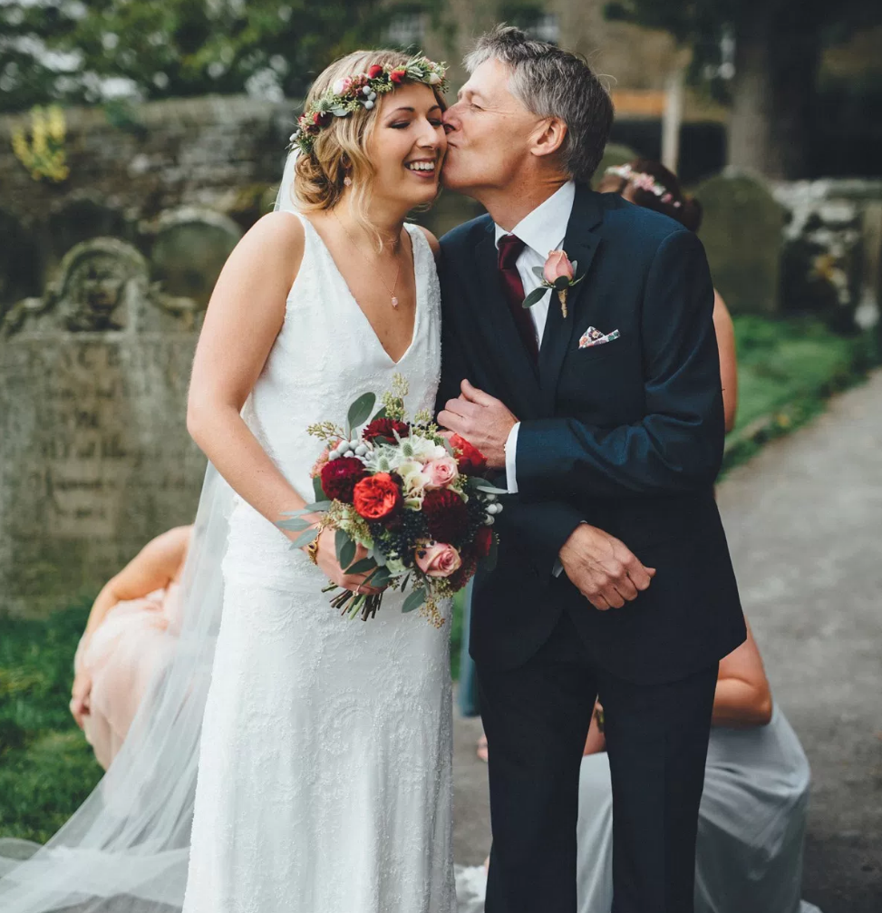 Real Bride Lucy wears Charlie Brear 1920.2 - Bride & Father of the Bride 2 - Cicily Bridal Leicestershire