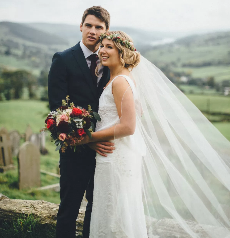 Real Bride Lucy wears Charlie Brear 1920.2 -Bride & Groom - Cicily Bridal Leicestershire