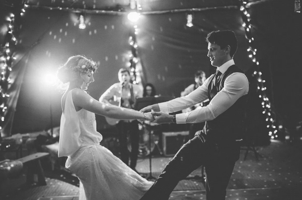 Real Bride Lucy wears Charlie Brear 1920.2 - Bride & groom dancing - Cicily Bridal Leicestershire