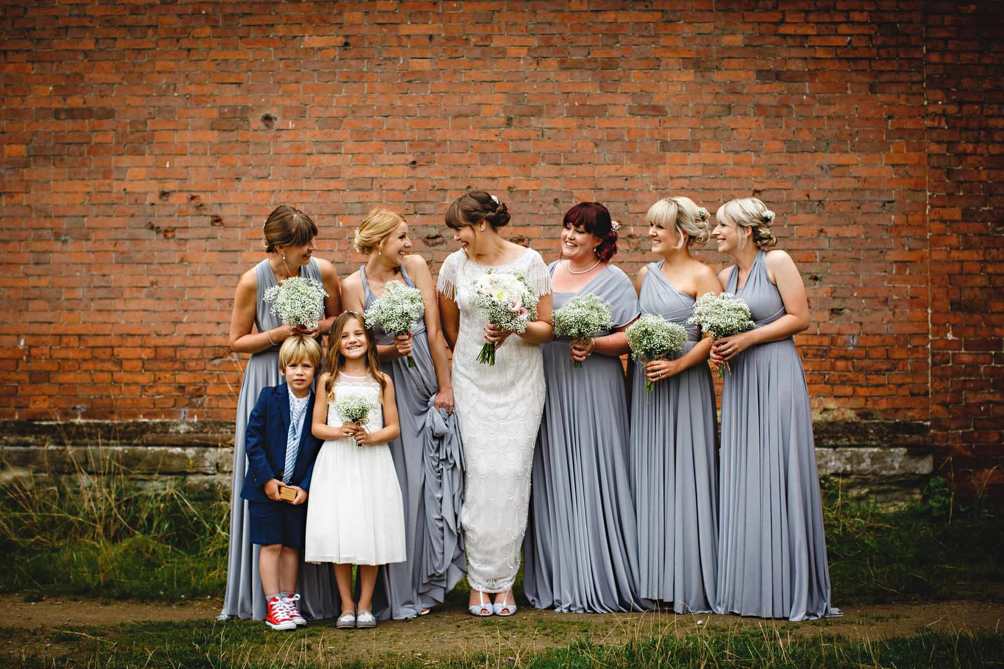 Real Bride Amy in Eliza Jane Howell and Twobirds Bridesmaids