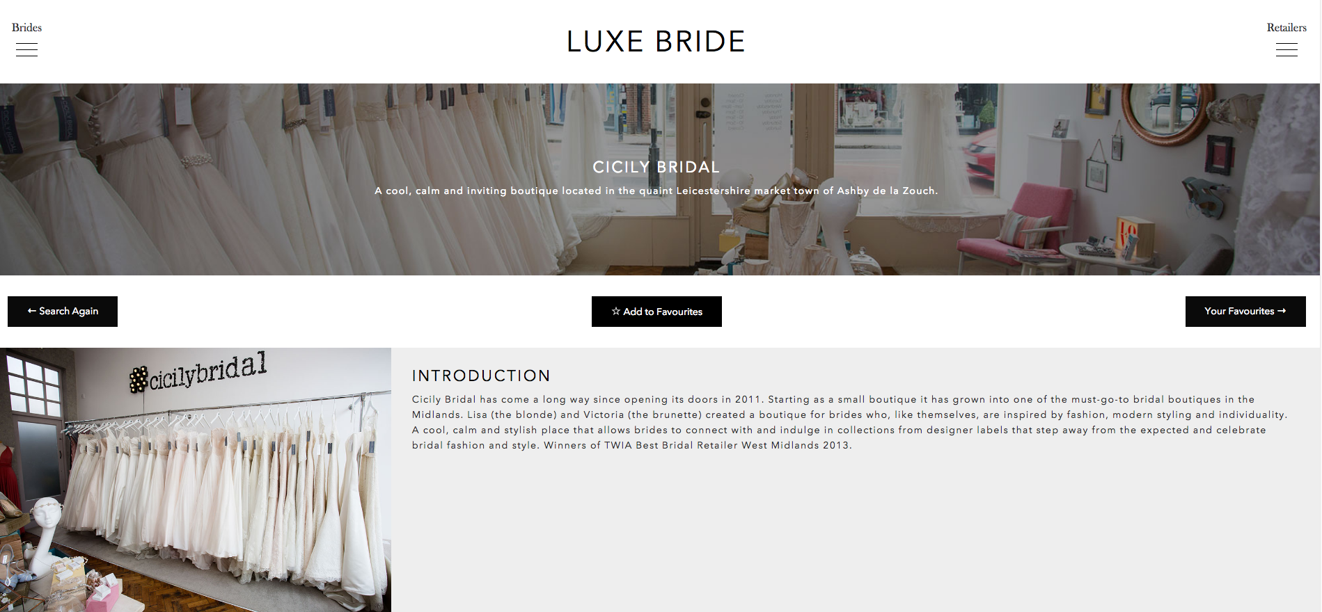Cicily Bridal on Luxe Bride