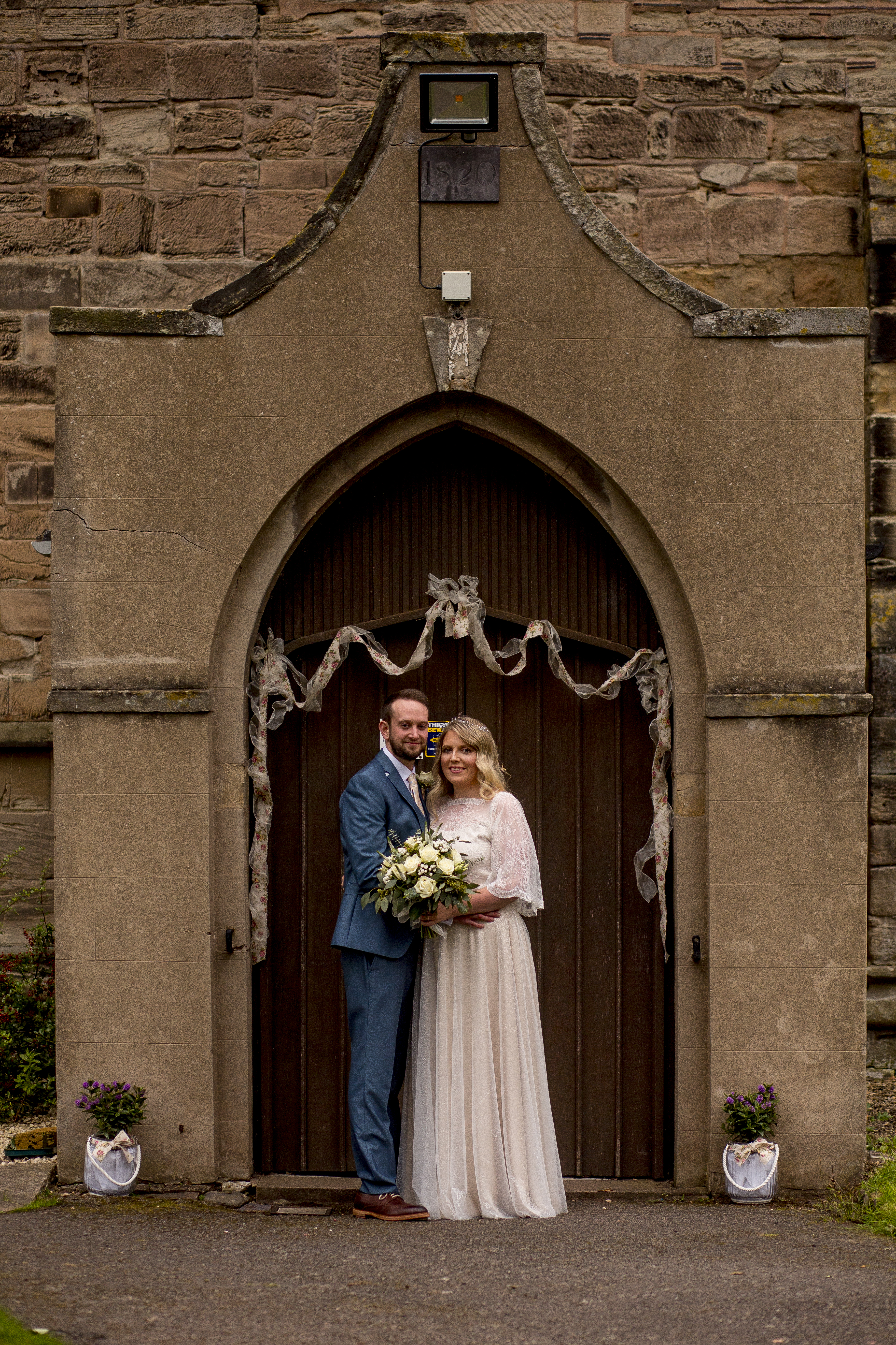 Real Bride Lorna wearing Charlie Brear Cicily Bridal Leicestershire