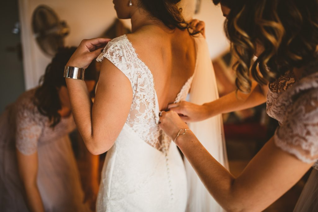 Real bride wearing Augusta Jones Skyler at Cicily Bridal