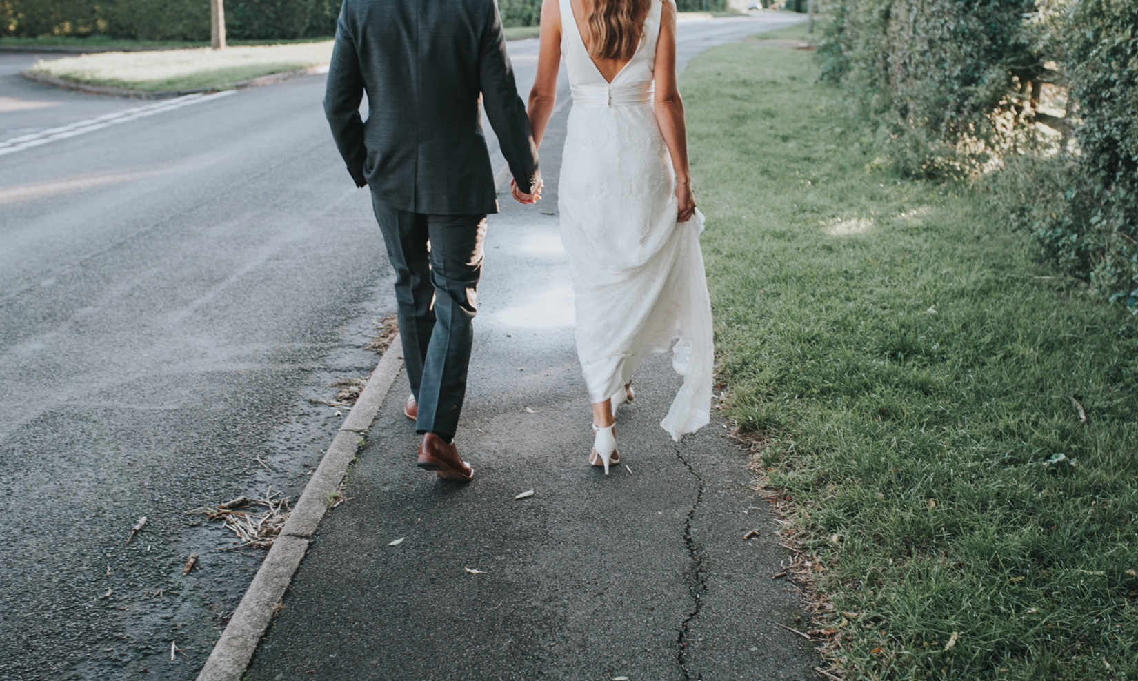 real bride wearing Charlie Brear Haliton and Catroux skirt