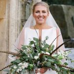 Real Bride wears Jesus Peiro 7014