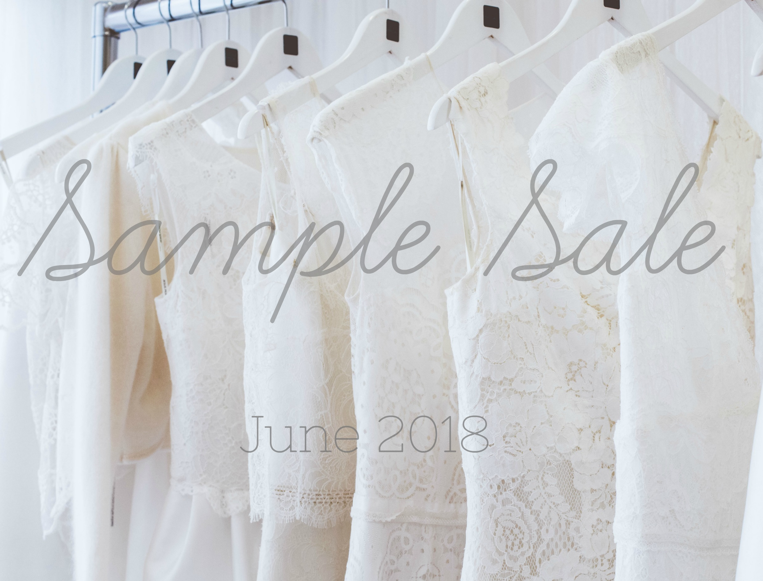 Sample Sale at Cicily Bridal