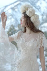 Willowby by Watters Heartleaf Ivory dress at Cicily Bridal