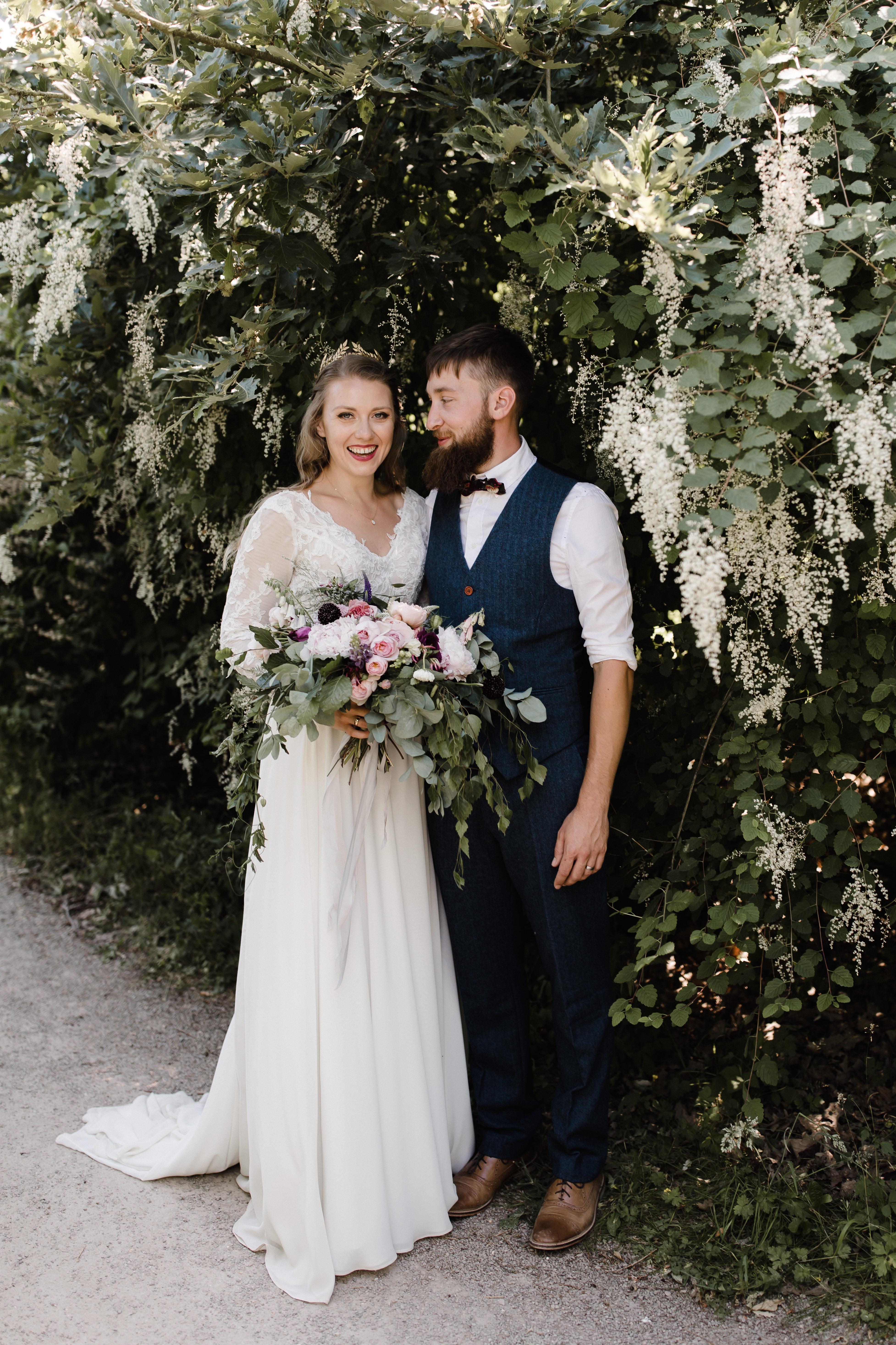 Real Bride wearing Cicily Bridal