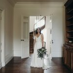 Real Bride wearing Charlie Brear