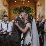 Real bride in Kate Halfpenny at Cicily Brida