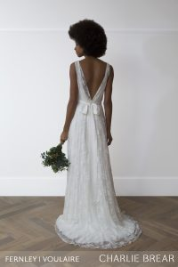 Voulaire overdress dress by Charlie Brear at Cicily Bridal