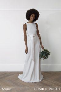 Torum wedding dress by Charlie Brear at Cicily Bridal