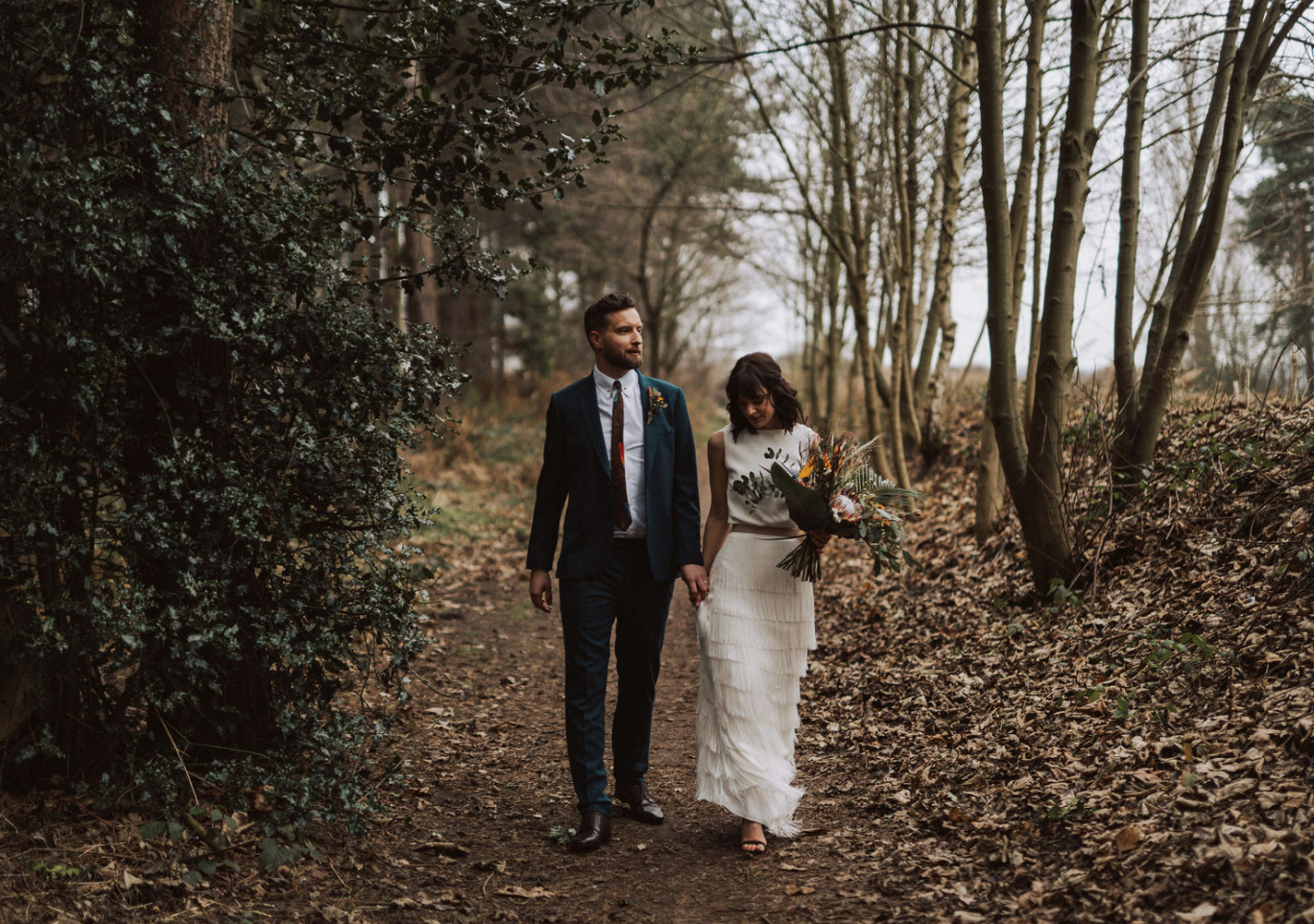 Real bride wearing Charlie Brear Torum with Isere skirt at Cicily Bridal