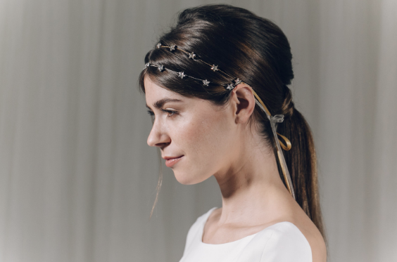 Star headband by Debbie Carlisle at Cicily Bridal