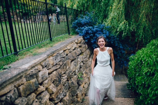 Real Bride wearing Charlie Brear from Cicily Bridal