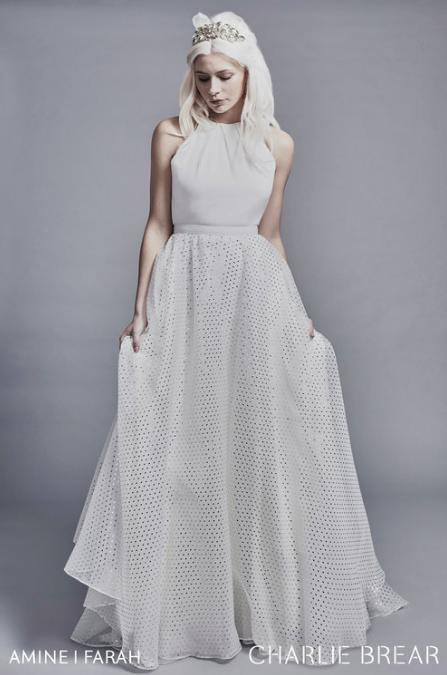 Charlie Brear Farah Wedding Dress Overskirt at Cicily Bridal