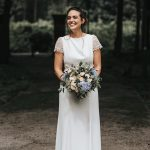 real bride wearing rembo styling from Cicily Bridal