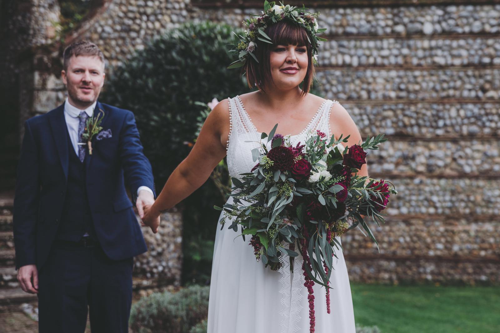 Real bride wearing Honey Bear by Rembo Styling from Cicily Bridal