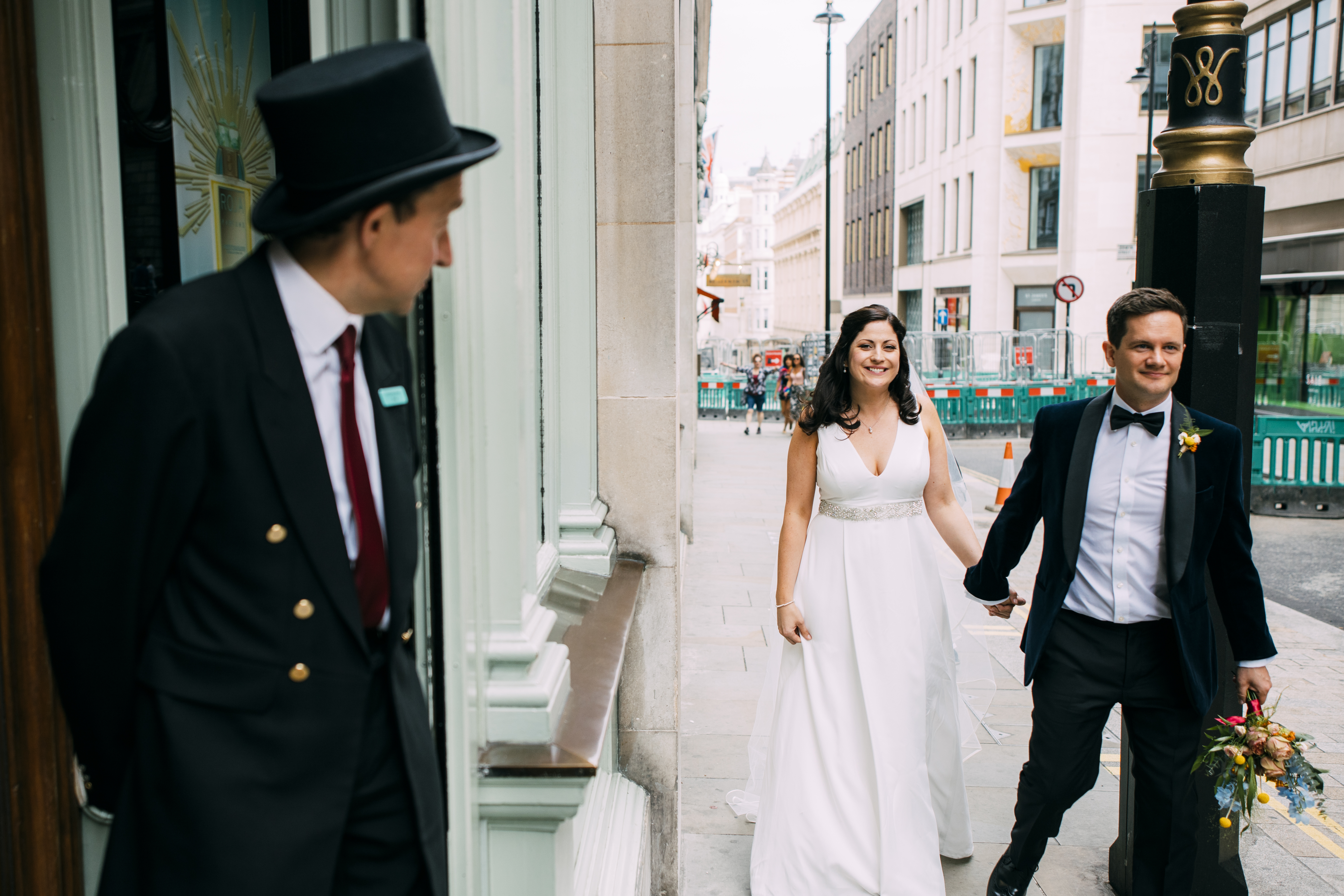 Real bride wearing the Harwood wedding dress by Charlie Brear