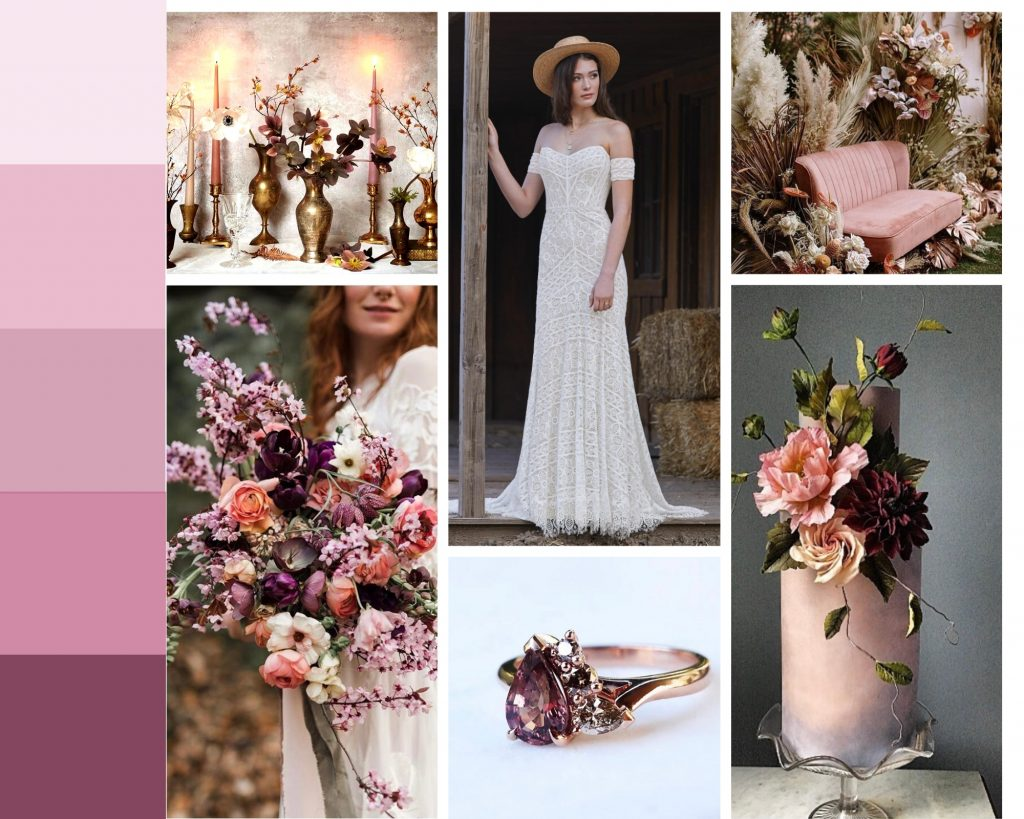 Willowby by Watters mood board cicily bridal