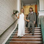 Real Cicily Bridal bride wearing Charlie Brear Torum