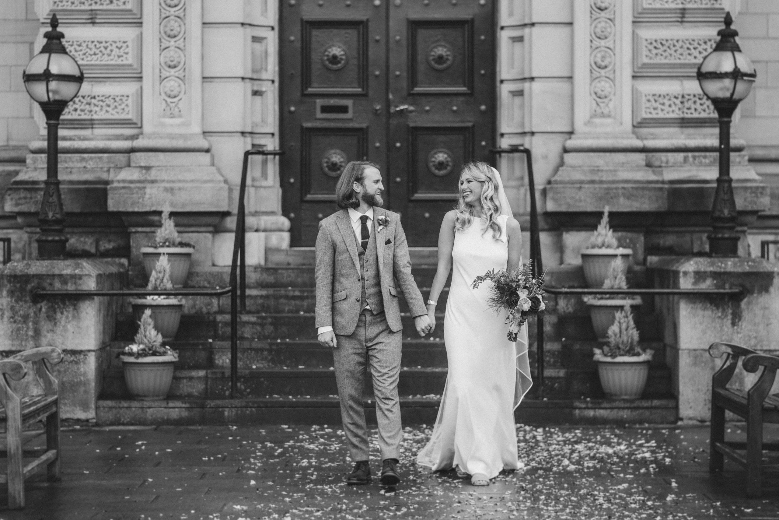 Real Cicily Bridal bride wearing Charlie Brear Torum