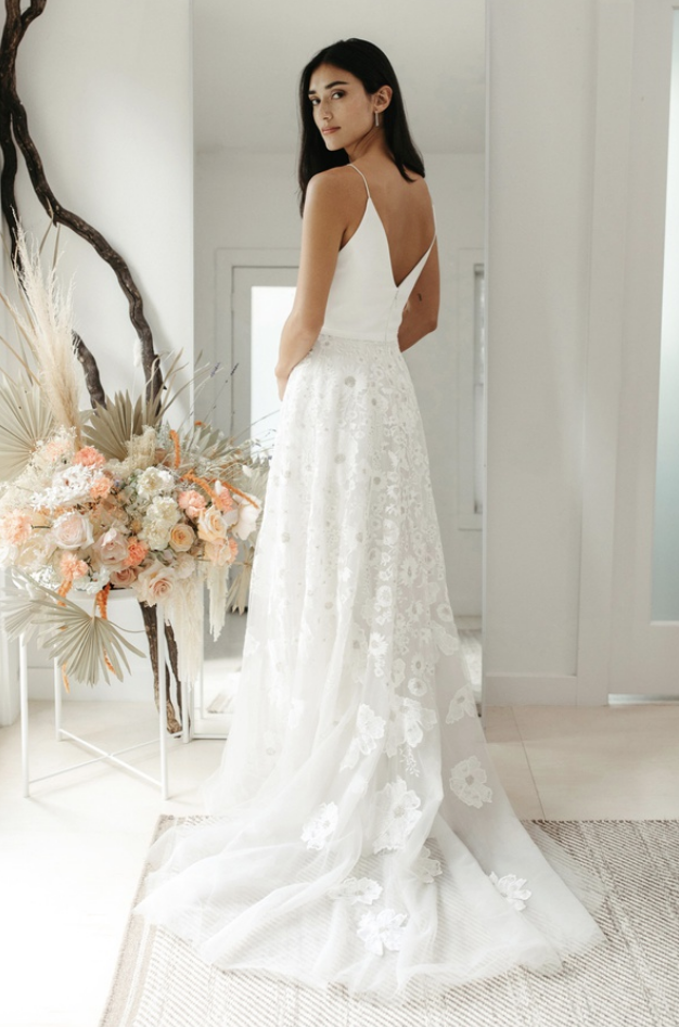 Tommie by Willowby by Watters at Cicily Bridal back